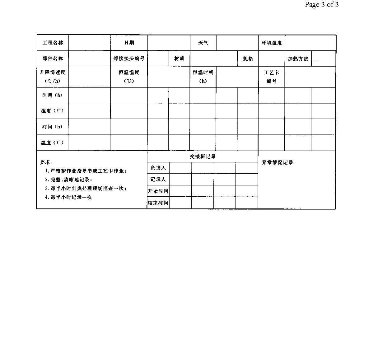 焊接热处理作业指导书